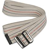 "Kinsman Enterprises 80317 Gait Belt with Metal Buckle, 2"" Width, 60"" Length, 1 Stripe"