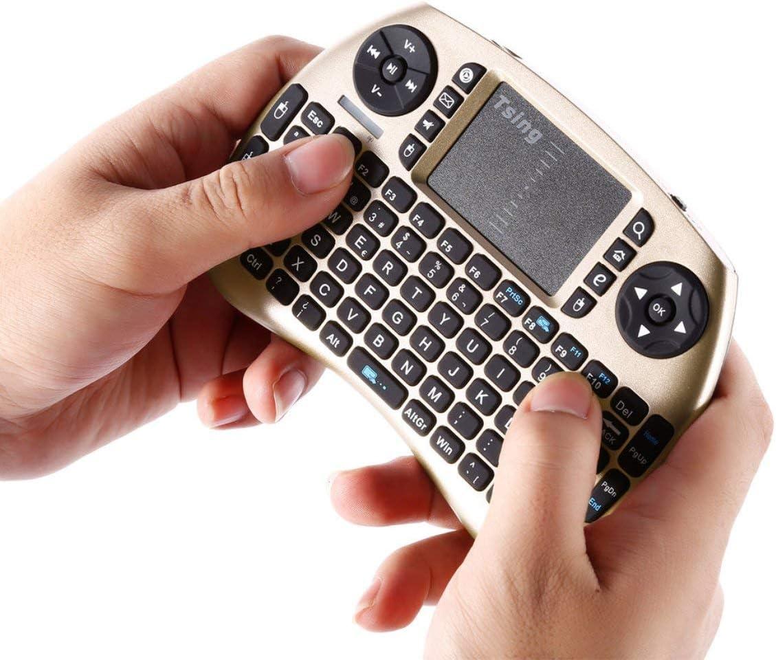 2.4G Teclado inalámbrico portátil portátil Touchpad Multimedia para TV Box Media TV PC Stick Laptop para Raspberry PI PS3: Amazon.es: Electrónica