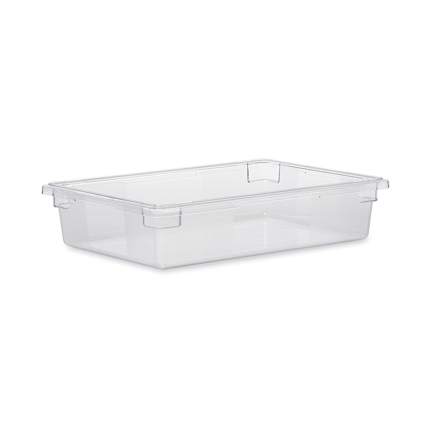 Rubbermaid Commercial Products Food Storage Box/Tote for Restaurant/Kitchen/Cafeteria, 8.5 Gallon, Clear (FG330800CLR)