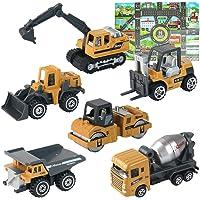 HERSITY 6 Piezas Camiones de Construcción Mini Juguetes