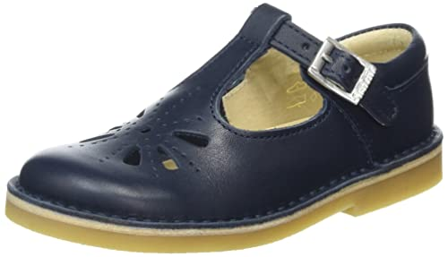 a1a928e78ab4f Image Unavailable. Image not available for. Color: Start Rite Tea Party  Navy Leather ...
