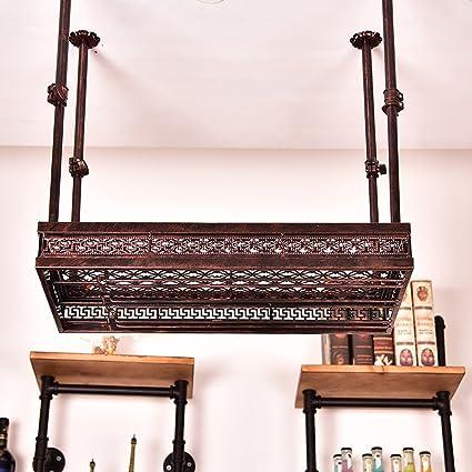 Colgante Creativo Wine Rack Bar Copa de Vino de Mesa Holder Upside Down Portavasos European Iron
