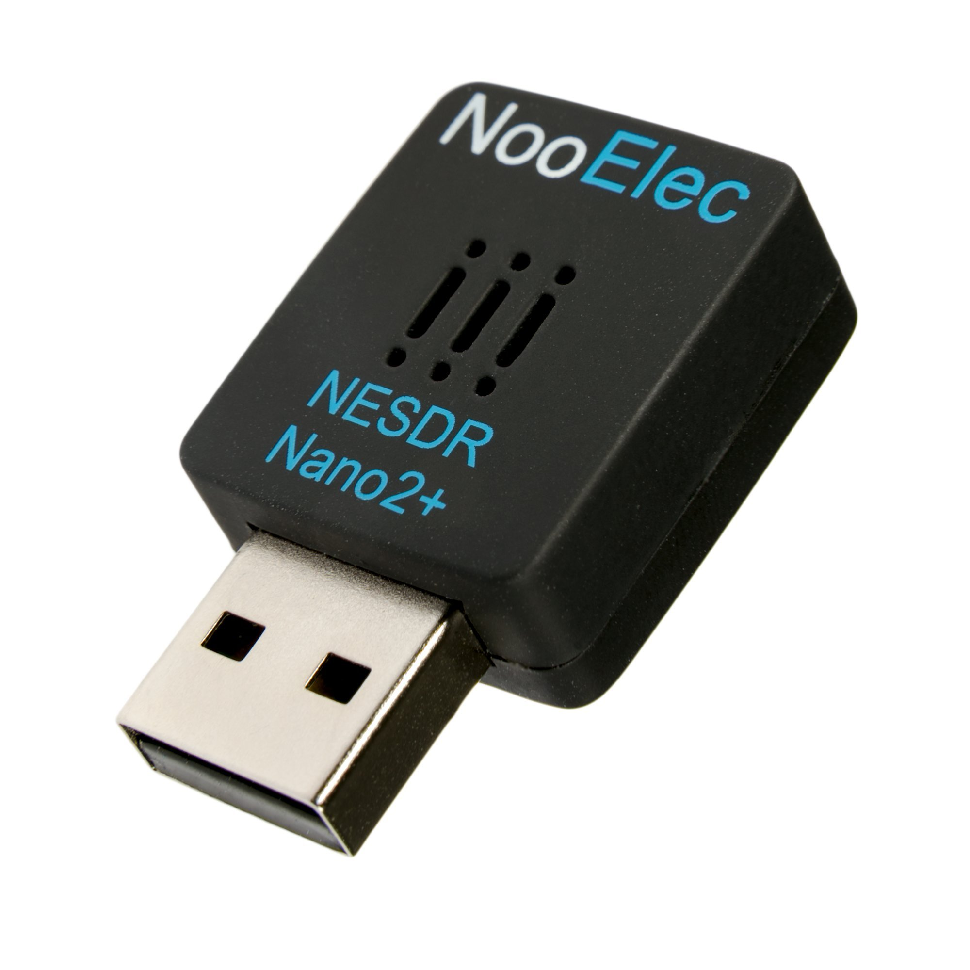 NooElec NESDR Nano 2+ Tiny Black RTL-SDR USB Set (RTL2832U + R820T2) with Ultra-Low Phase Noise 0.5PPM TCXO, MCX Antenna & Remote Control; Software Defined Radio, DVB-T and ADS-B Compatible, ESD Safe by NooElec