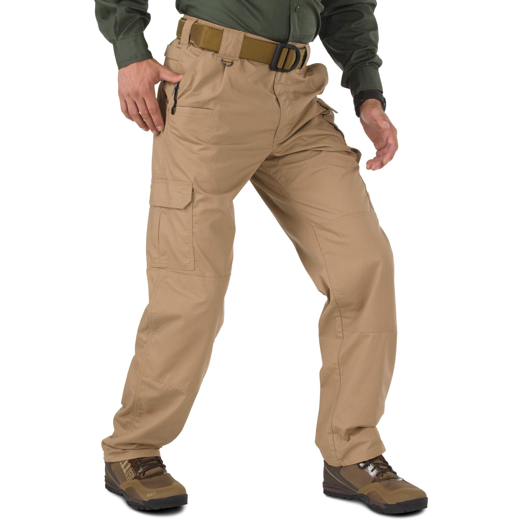 5.11 Men's Taclite Pro Tactical Pants, Style 74273, Coyote, 46W Unhemmed