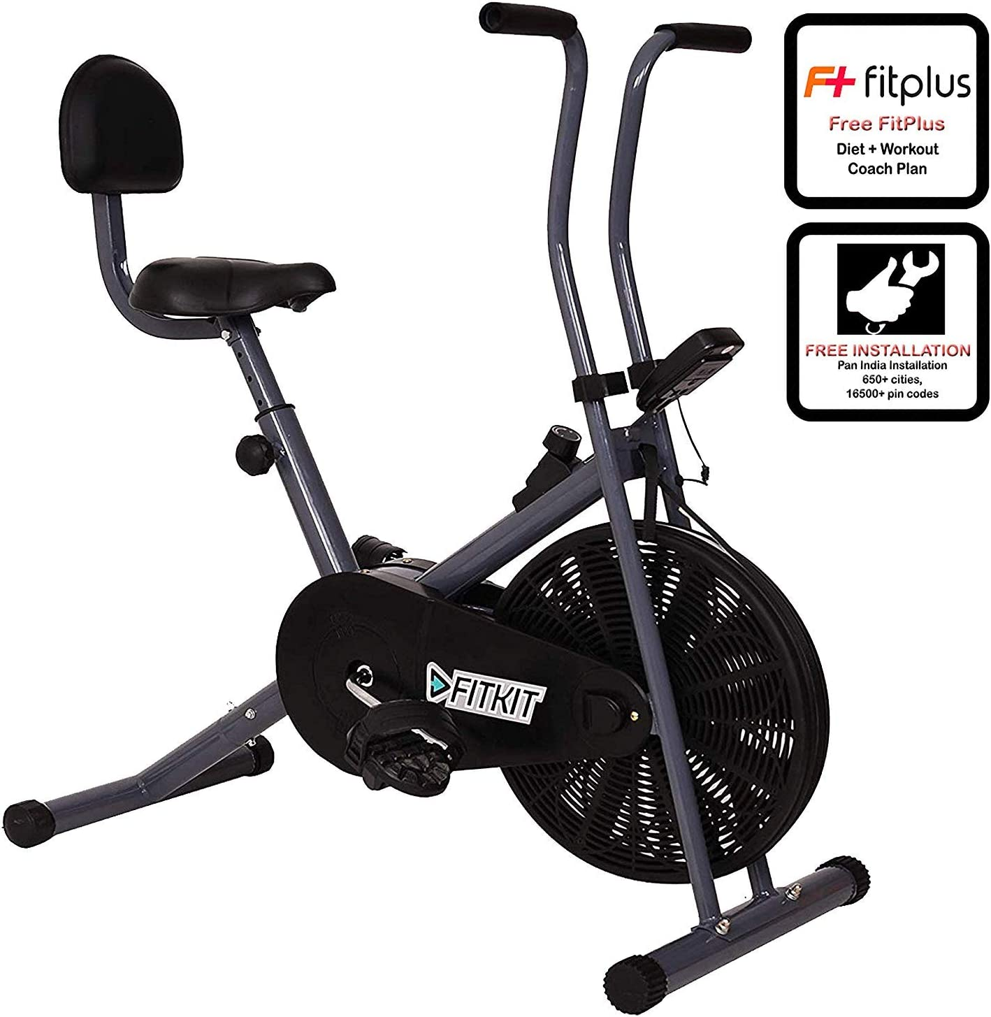 [LD] Fitkit FK500 Steel Airbike with Free Installation assistance (Black/Grey)