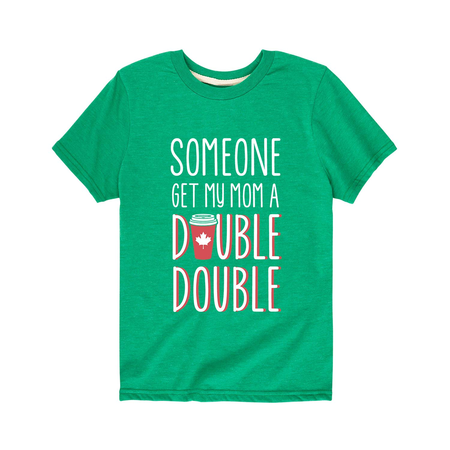Toddler Short Sleeve Tee Instant Message Someone Get My Mom A Double Double Funny Coffee