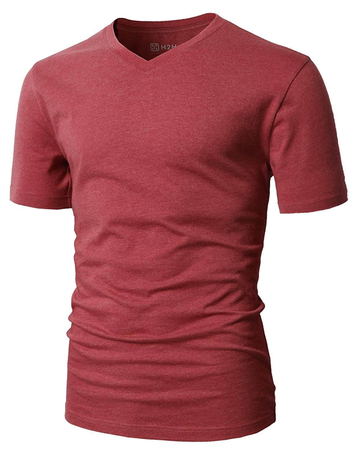 H2H Mens Casual Premium Soft Cotton Short Sleeve T-Shirts of Various Colors