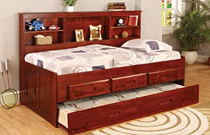 Discovery World Furniture Twin Daybed Bookcase With 3 Drawers And Trundle 5 Drawer Chest