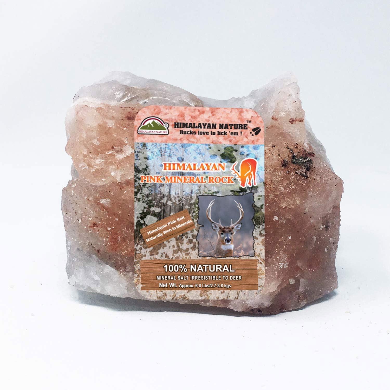 Himalayan Nature Animal Licking Salt Mineral Rock,100% Natural Rock Salt - Deer Attractant Rock   6-8 LBS