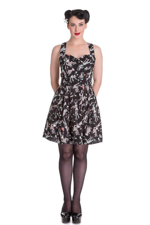 9b1f072516e15 Hell Bunny Ice Scream Zombie Diner Mini Dress at Amazon Women's Clothing  store: