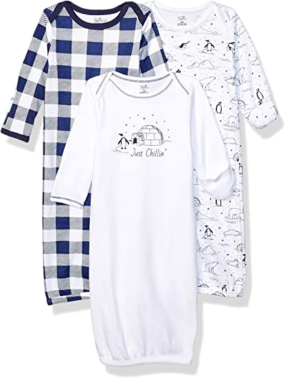 3-Pack Touched By Nature Girl Organic Cotton Sleep and Play Blossoms