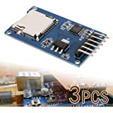 XCSOURCE 3 pezzi Micro SD SDHC Shield TF scheda di memoria Modulo 6 pin SPI per Arduino TE417