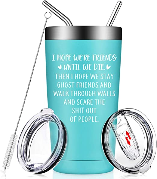 Best Friends Gifts for Women - I Hope We're Friends Until We Die - Funny  Friendship Christmas