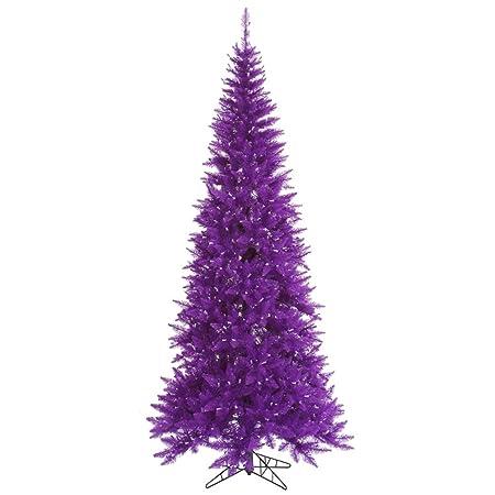 7 5 Slim Purple Fir Artificial Christmas Tree Unlit Amazon Co Uk