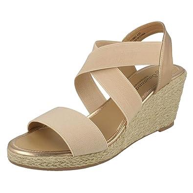 Savannah Ladies Rope Wedge Sandals