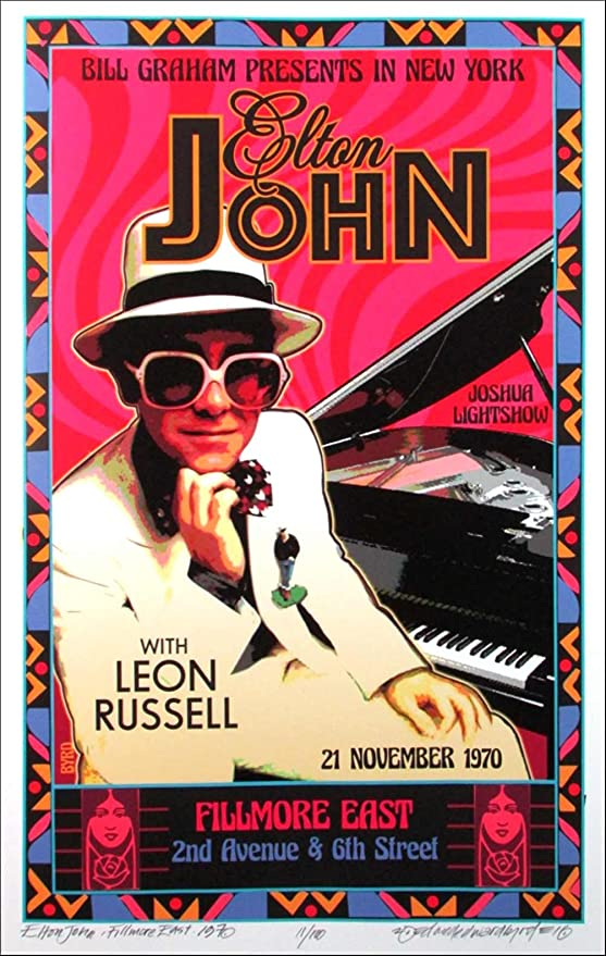 ELTON JOHN CLASSIC MUSIC SIGNATURE POSTER PICTURE PRINT Sizes A5 to A0 **NEW**