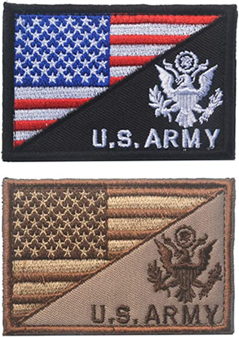 ARMY American Flag USA Military Tactical Morale Badge Subdued Uniform Patch U.S