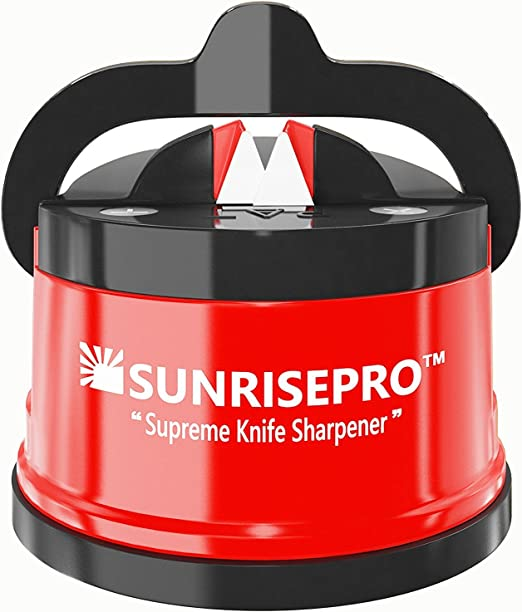 SunrisePro Supreme Knife Sharpener for all Blade Types | Razor Sharp Precision & Perfect Calibration | Easy & Safe to Use | Ideal for Kitchen, ...