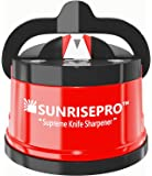 SunrisePro Supreme Knife Sharpener for all Blade Types | Razor Sharp Precision & Perfect Calibration | Easy & Safe to…