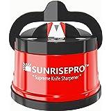 SunrisePro Supreme Knife Sharpener for all Blade Types | Razor Sharp Precision & Perfect Calibration | Easy & Safe to Use | I