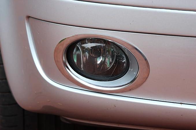 Chrom Nebelscheinwerfer Edelstahl Ringe Blenden für VW T5 Facelift 2009-2015