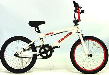 Krave Dare 2010 Bmx Bike White Red 48h Alloy Wheels 4 X Stunt