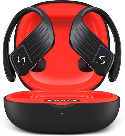 Amazon Com Senso Wings Wireless Earbuds Bluetooth 5 0 Tws True Wireless Earphones Best Sport Headphones For Workout Noise Cancelling Sweatproof Ear Buds With Mic 40 Hours Playtime For Iphone Running Gym Home Audio