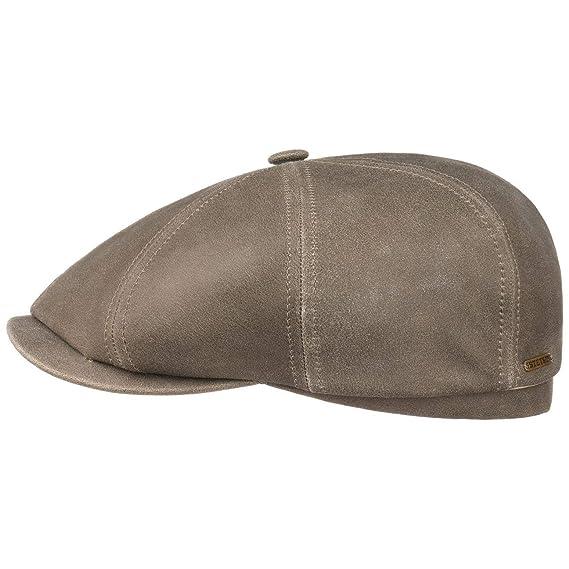 335f9ab63fc4c Stetson Hatteras Lambskin Flat Cap Newsboy hat (61 cm - Light Olive ...