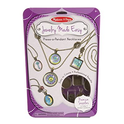 Melissa & Doug Jewelry Made Easy Press-a-Pendant Necklace-Making Set (Great Gift for Girls and Boys - Best for 8, 9, 10, 11, 12 Year Olds and Up): Melissa & Doug: Toys & Games
