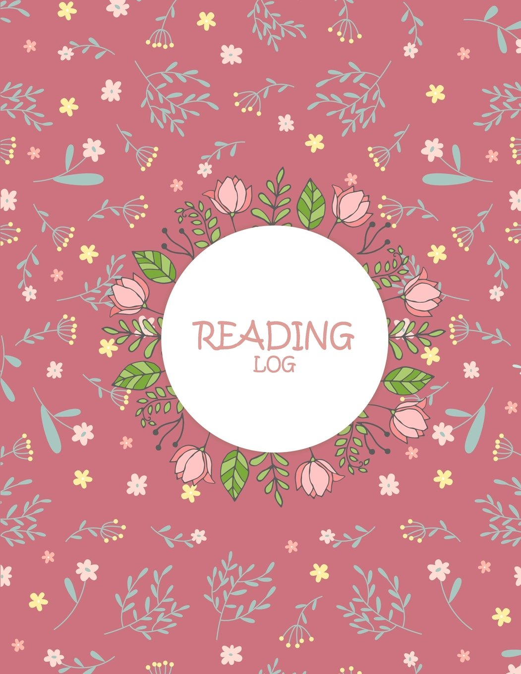 "Download Reading Log: Pink Floral Book, Reading Log Gifts For Book Lovers Large Print 8.5"" x 11"" Reading Log Journal With Summary PDF"