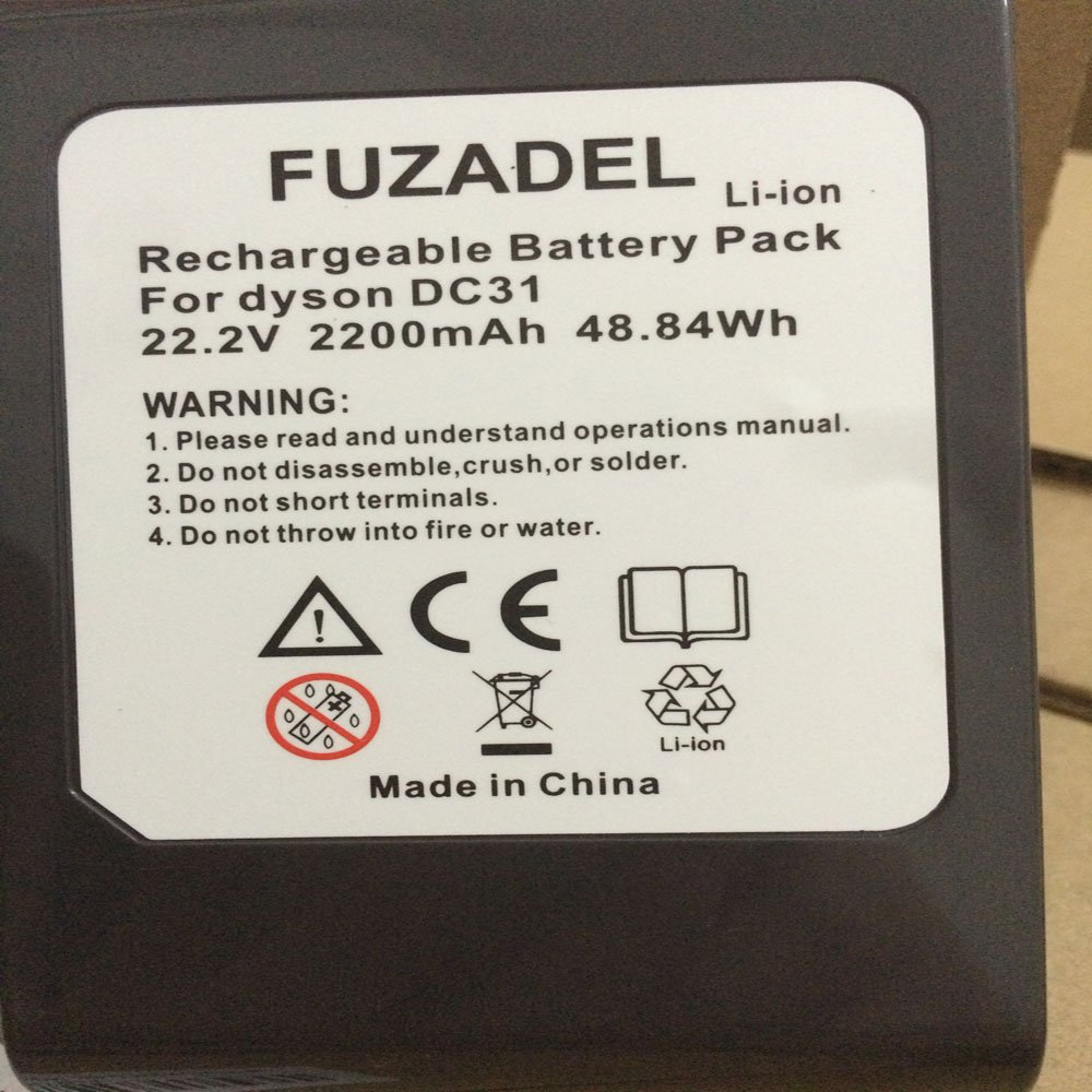 FUZADEL 2200mA Replacement Battery for Dyson DC44 DC31 Battery Cordless Vacuum DC44 DC35 DC34 Hand-held Vacuum Cleaner (Type i, Not DC44 MK2) DC35 Digital Slim,DC44 Animal