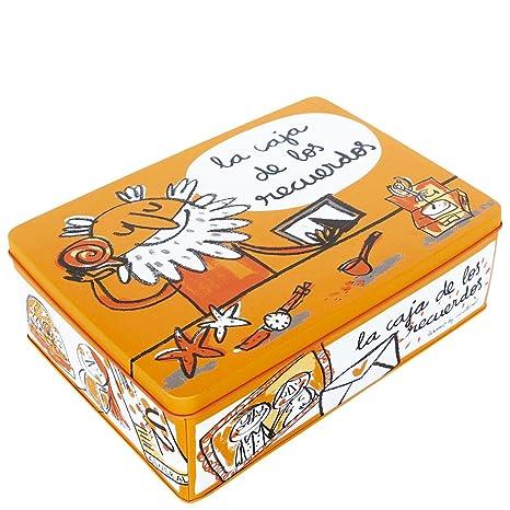 Laroom Caja metálica, Metal, Naranja