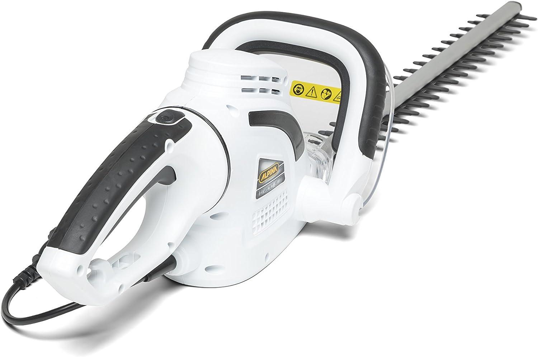 Alpina 256050000/12 Cortasetos Electrico H, 500 W, Espada de 50 cm, Distancia Entre Dientes 15 mm, Negro, Blanco