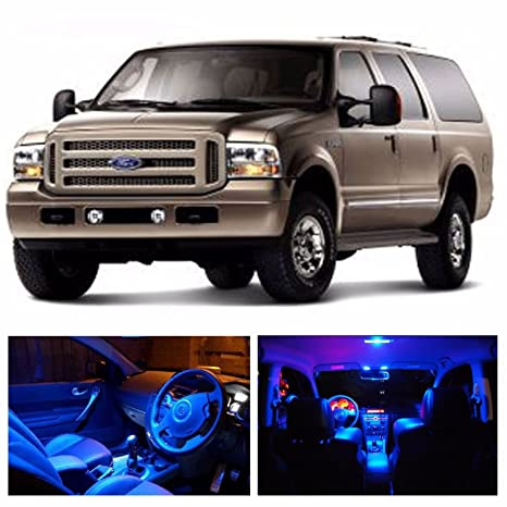Led Blue Lights Interior Package Kit For Ford Excursion  Bulbs