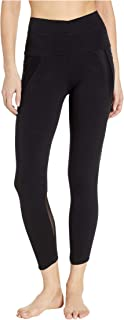 product image for Hard Tail Crossover Waist Duo Pocket 7/8 Leggings Black XS 23