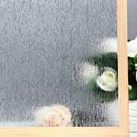 VELIMAX Static Cling Rain Glass Window Film Removable Rain Decorative Window Film...
