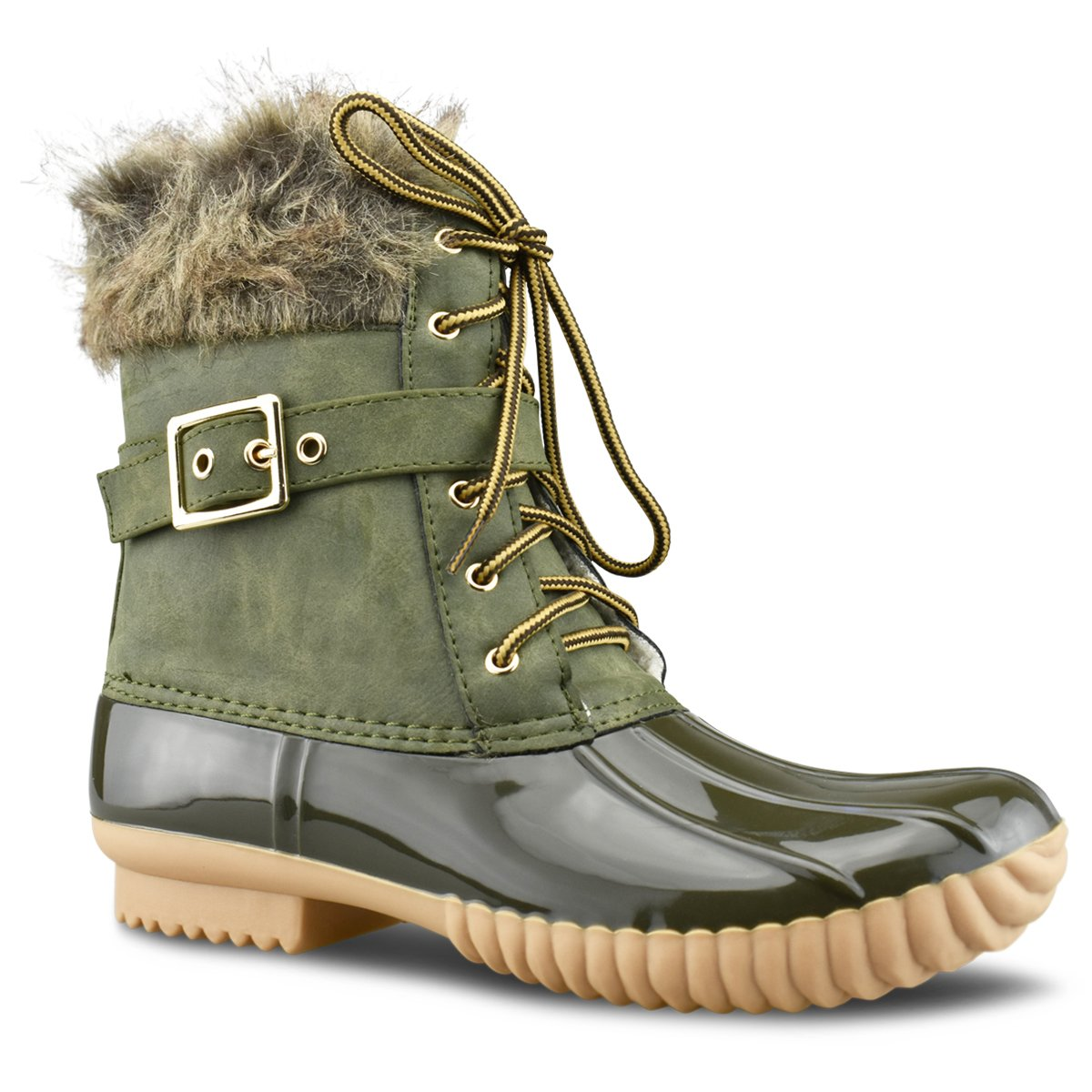 Premier Standard Women Stitching Lace Up Side Zip Waterproof Insulated Snow Boots B078MQFWCC 11 B(M) US|Premier Olive
