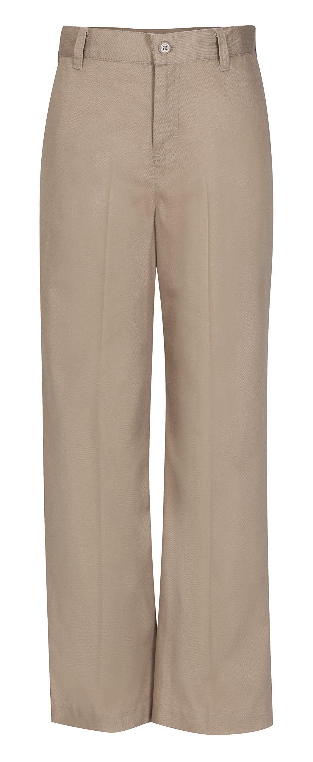 Classroom Uniforms CLASSROOM Big Girls' Plus-Size Plus Flat Front Trouser Pant, Khaki, 18 1/2