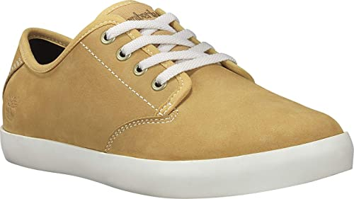 Timberland Dausette Leather Oxford, Zapatillas para Mujer, Amarillo (Wheat Nubuck), 42