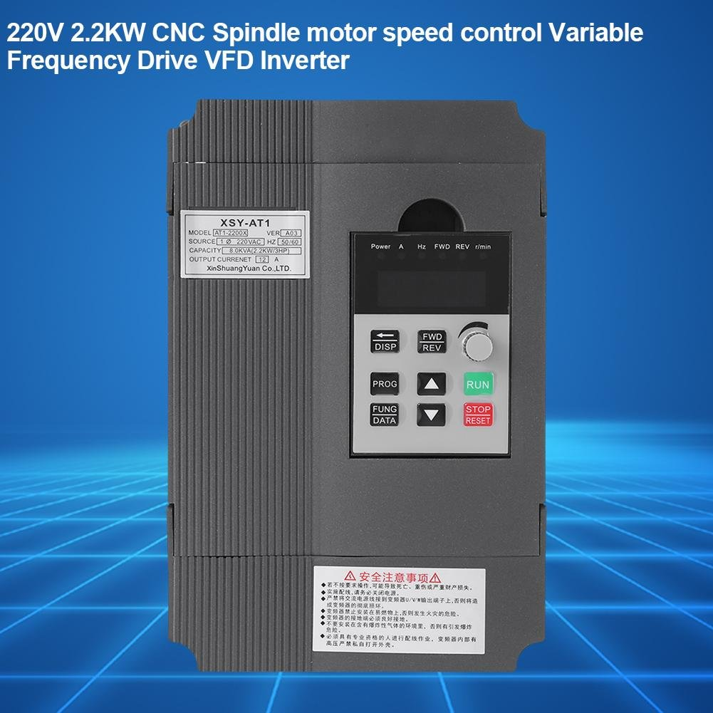 VFD Inverter Single to 3 Phase, 220V Variable Frequency Drive,Low Noise and Low Electromagnetic Interference,Large Torque,Speed Controller for 3-Phase 2.2KW AC Motor by Thincol (Image #7)