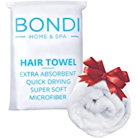 Bondi Home & Spa Microfibre Hair Towel for Women – Super Absorbent, Fast Drying, Large & Soft, Perfect for Long or Curly…