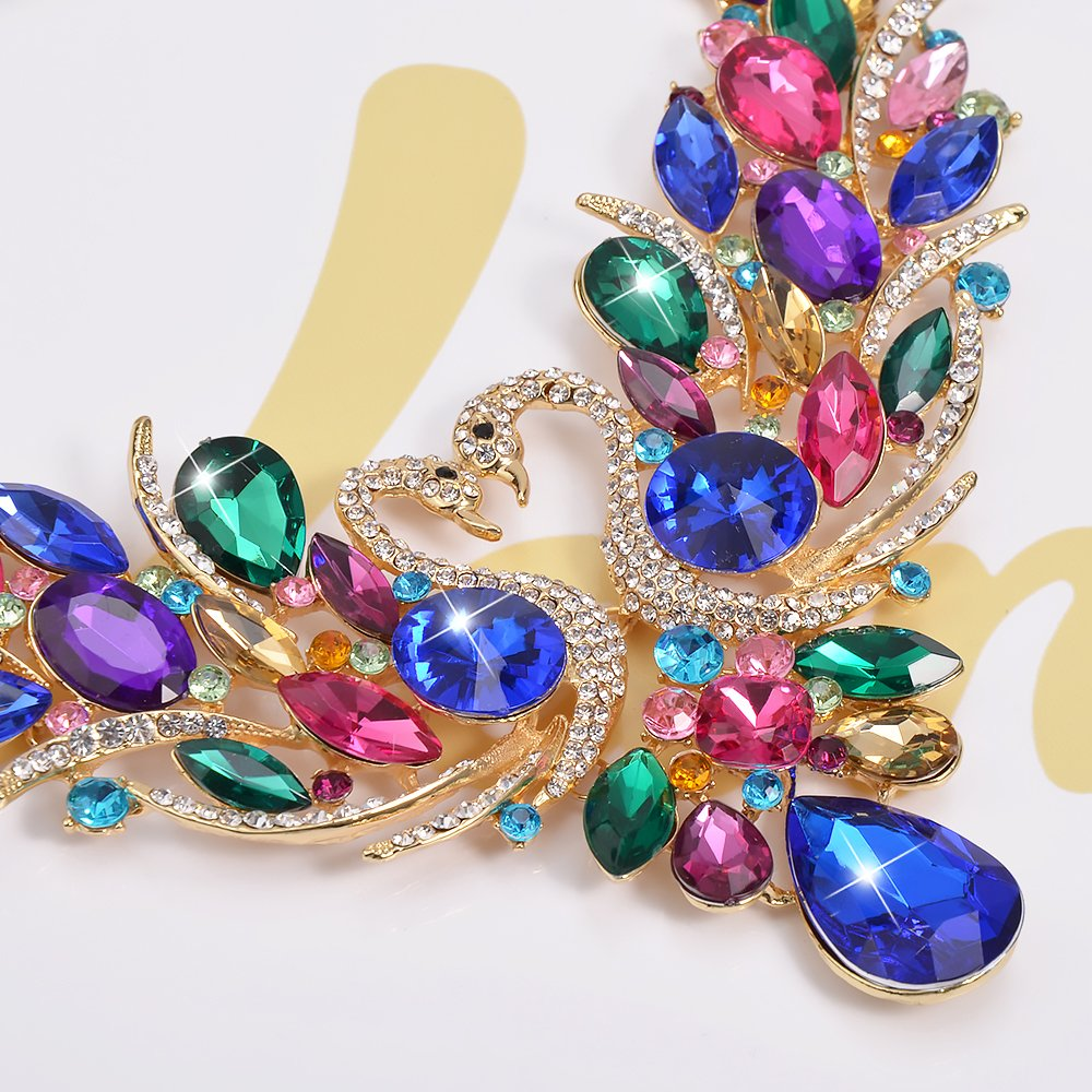 SEKAISORA Fashion Elegant Fine Diamond Necklace Temperament With Swan Set jewelry Set Chain by SEKAISORA (Image #9)