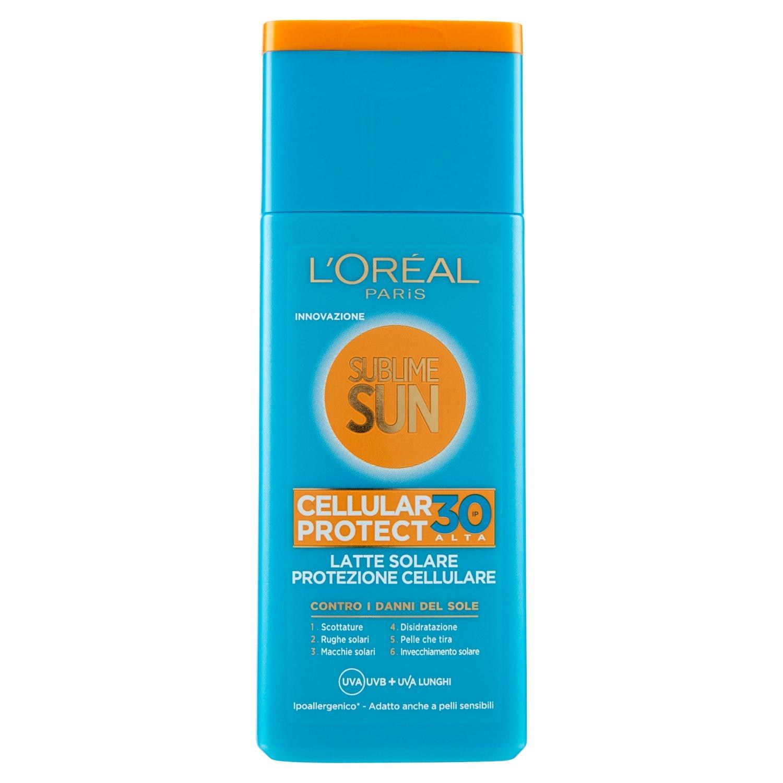 L'Oréal Paris Crema Solare Sublime Sun Cellular Protect, Protezione Solare Alta IP30 per Pelli Sensibili, 200 ml A8281000