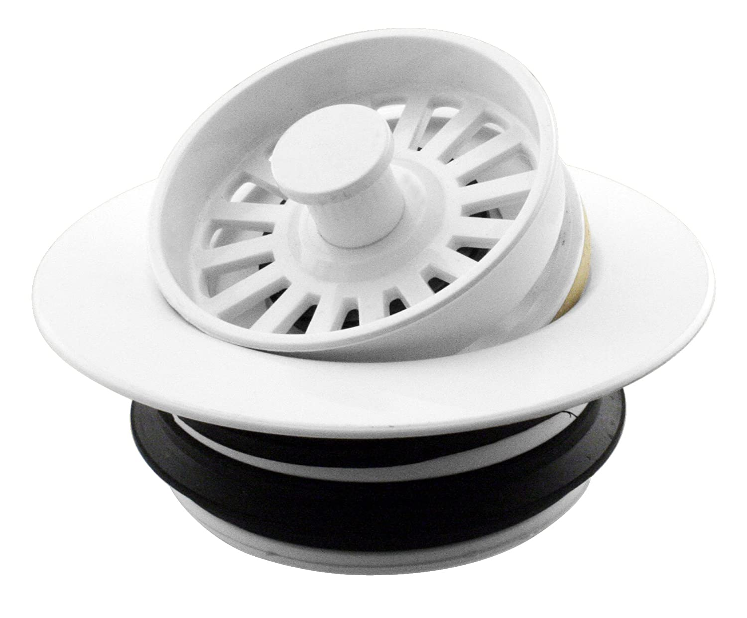 D2124-50 Universal Disposal Ring and Strainer Stopper in White - Disposer-YOW Westbrass