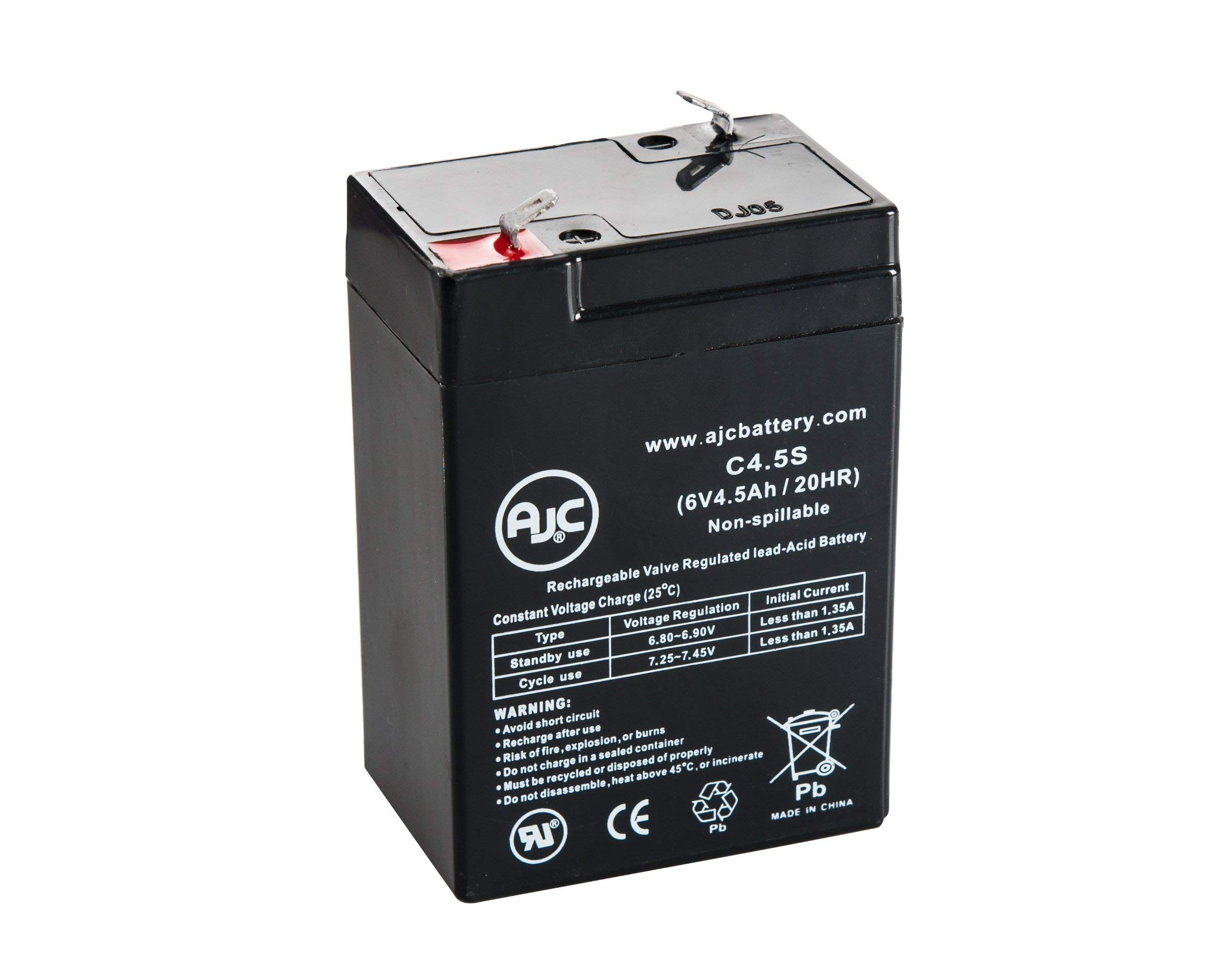Portalac PE6V4.5 6V 4.5Ah UPS Battery - This is an AJC Brand Replacement