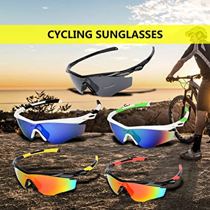 e5abcd47223 Image Unavailable. Image not available for. Color  Lixada Polarized Cycling  Sunglasses Bike Bicycle UV400 Protection Sports Driving Golf Motorcycling  ...