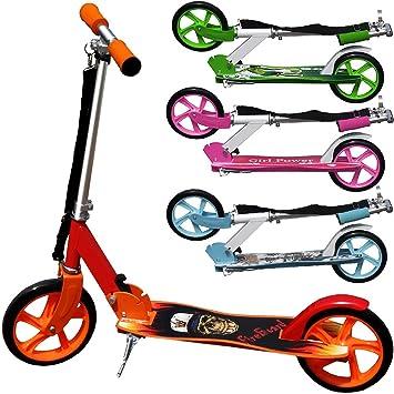 Deuba Patinete Plegable Scooter Color a Elegir   para Principiantes, niños y avanzados   Juguete, Deporte