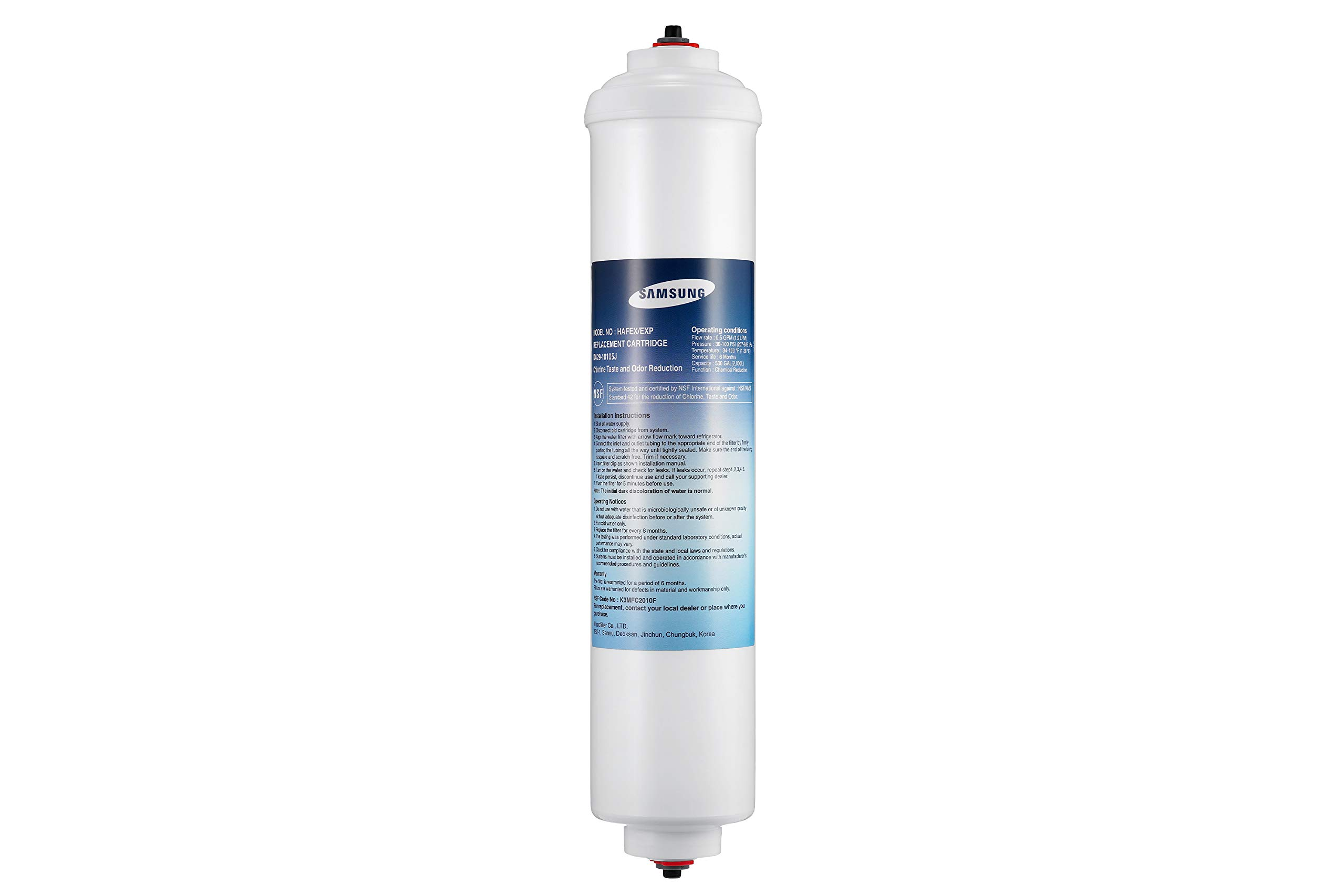 Samsung DA29-10105J Refrigerator Water Filter Genuine Original Equipment Manufacturer (OEM) Part