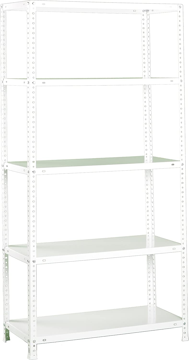 Simonrack 8425437047770 1800 x 900 x 500 mm Metal Shelves with Screws - White