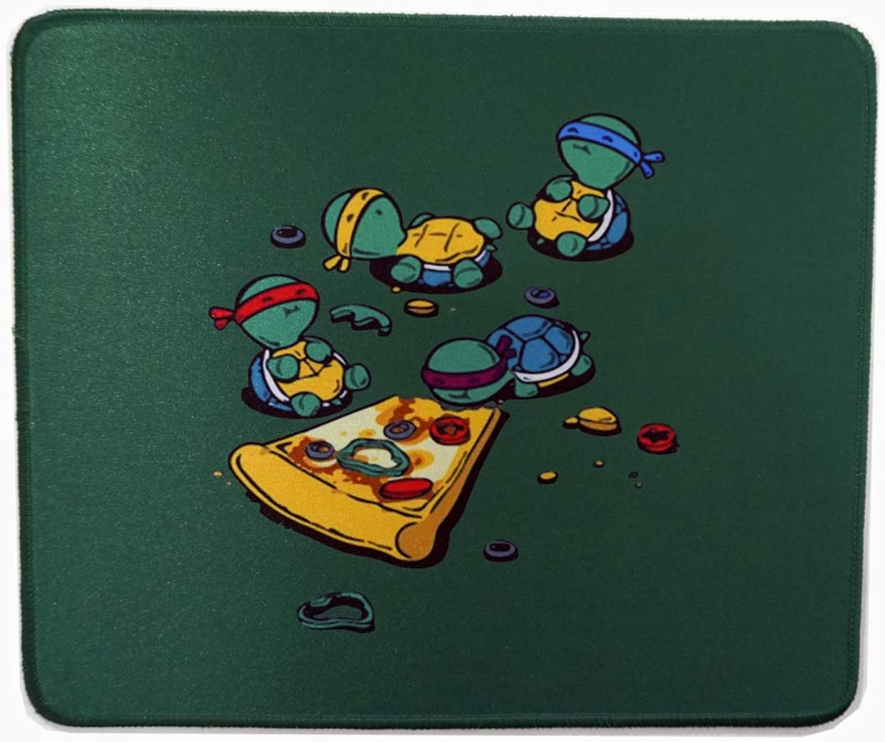 12 x 10 inches Teenage Mutant Ninja Turtles TMNT Eating Pizza Gaming Mouse Pad